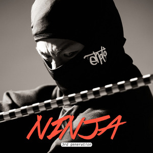 NINJA MASK BIG LOGO - BLACK
