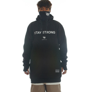 DRIFT LINE(WINDPROOF) HOODIE - STAY STRONG (BLACK)